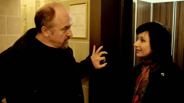 Eszter Balint with Louie CK